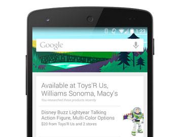 Google Now laat je nu weten als je winkels met een gezocht product passeert