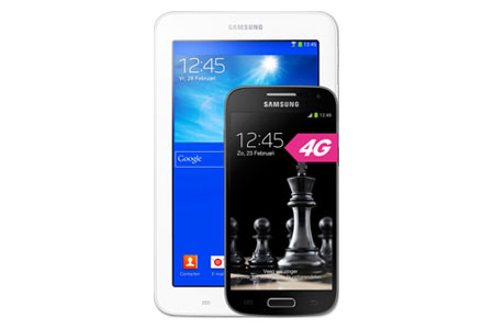 Tip: gratis Samsung-tablet bij een Galaxy S4 Mini abonnement
