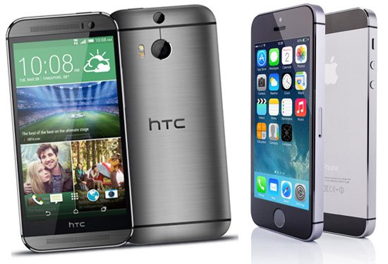 HTC One M8 versus iPhone 5S: wie wint?