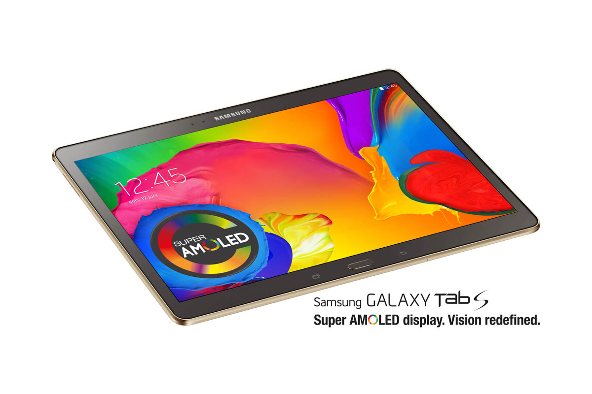 Samsung Galaxy Tab S onthuld: dunne amoled-tablet verschijnt 4 juli
