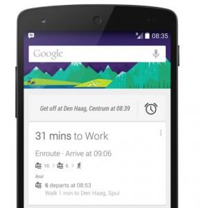 Google Now helpt je herinneren wanneer je uit moet stappen bij OV