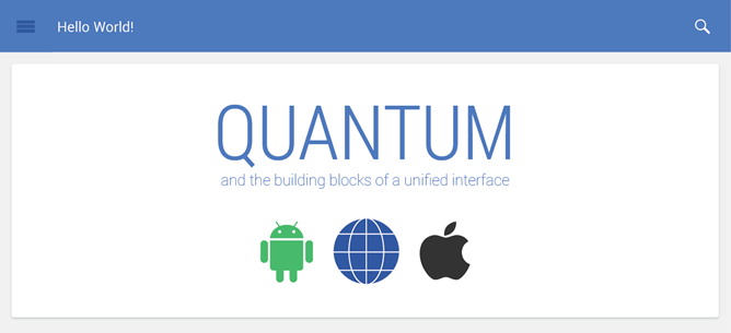 Quantum Paper: universeel design voor apps Android, Chrome en iOS