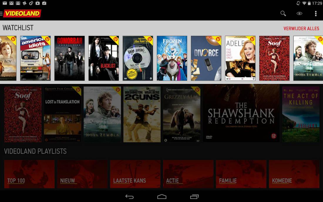 Videoland voor Android: bekijk films en series op je tablet