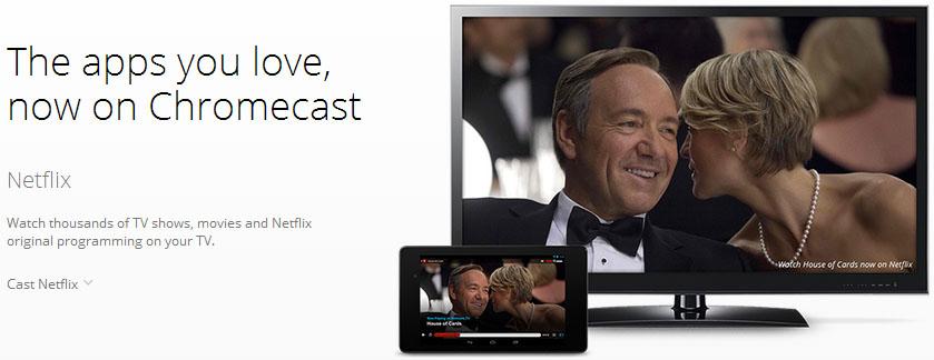 Chromecast website