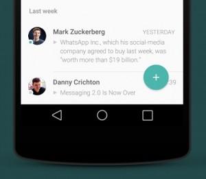 Zo ziet WhatsApp eruit met een (bloedmooi) Android L-design