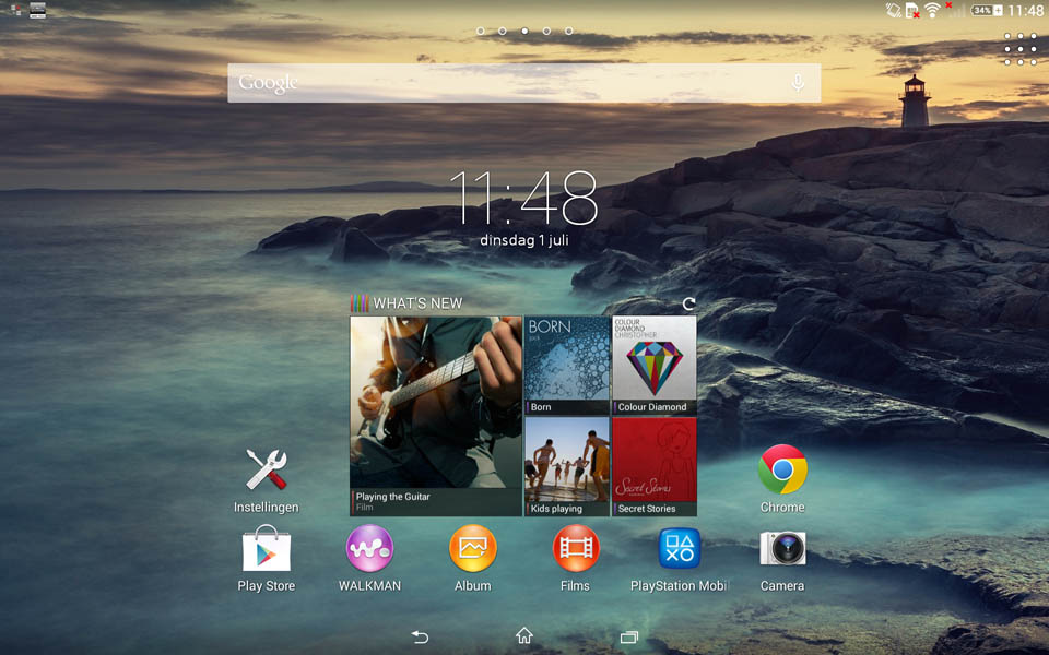 xperia z2 tablet screen 1