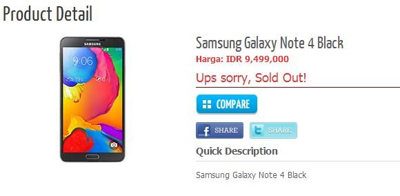 'Samsung Galaxy Note 4 werkgeheugen bedraagt 4GB'