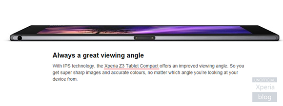 Xperia Z3 Tablet Compact release