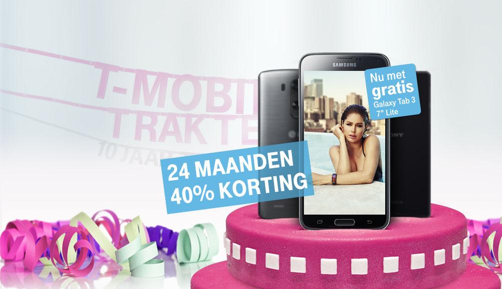 T-Mobile feestactie: Galaxy S5 met flinke korting en gratis tablet