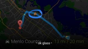 google glass waze