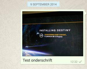 whatsapp onderschrift