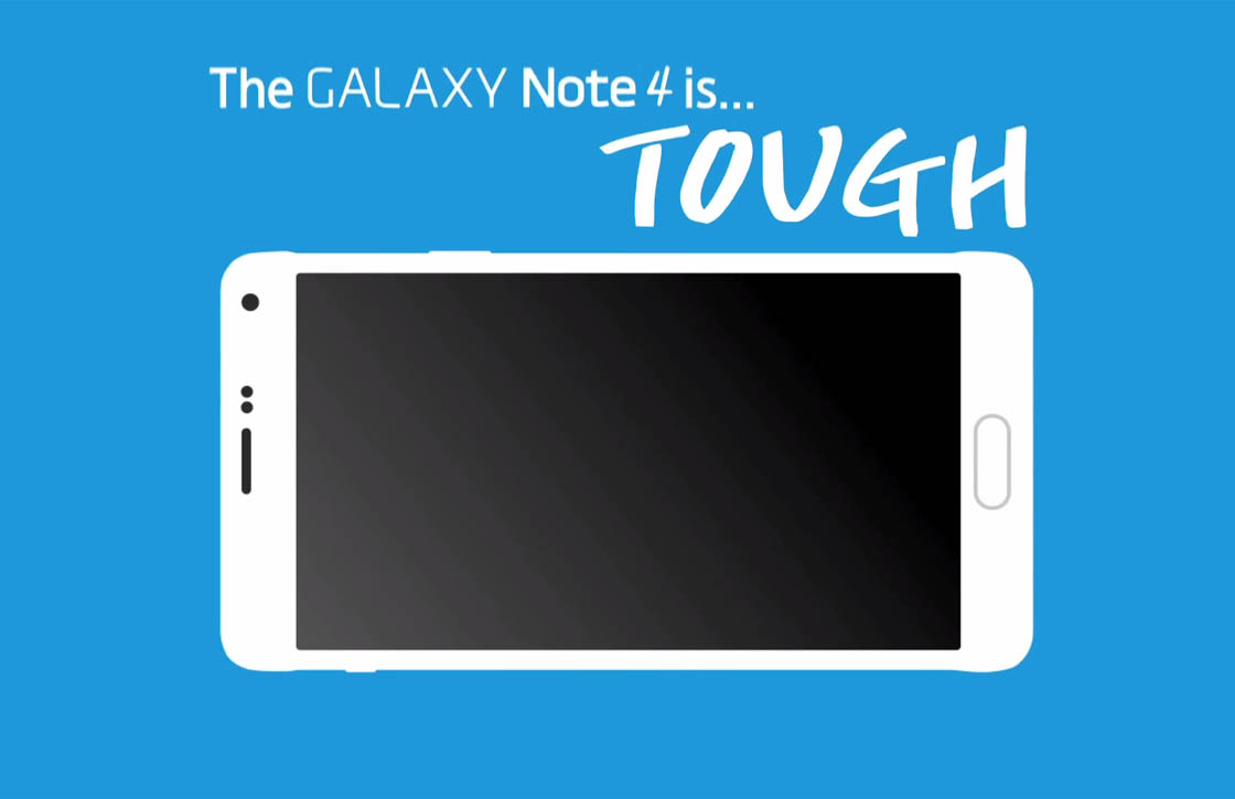 Samsung Galaxy Note 4 video toont stevigheid smartphone