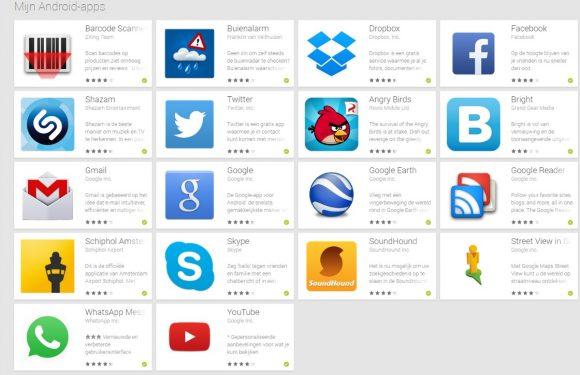 Update en verwijder apps via de Google Play webversie