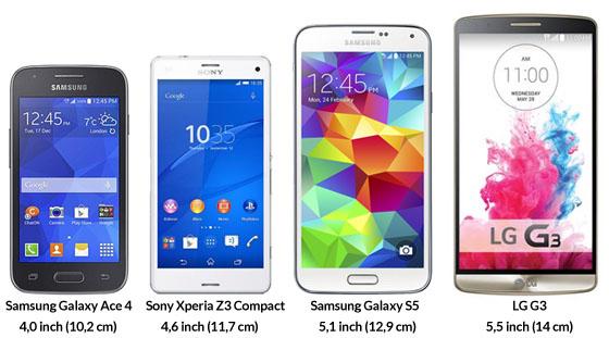 smartphone kiezen grootte