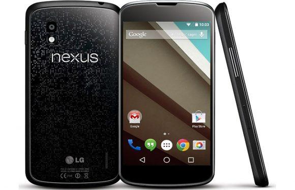 Nexus 4 krijgt 'zeer binnenkort' Android 5.0 Lollipop