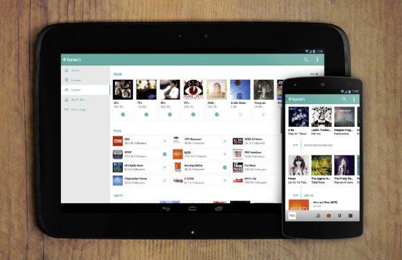 TuneIn Radio krijgt Chromecast-ondersteuning en Material Design