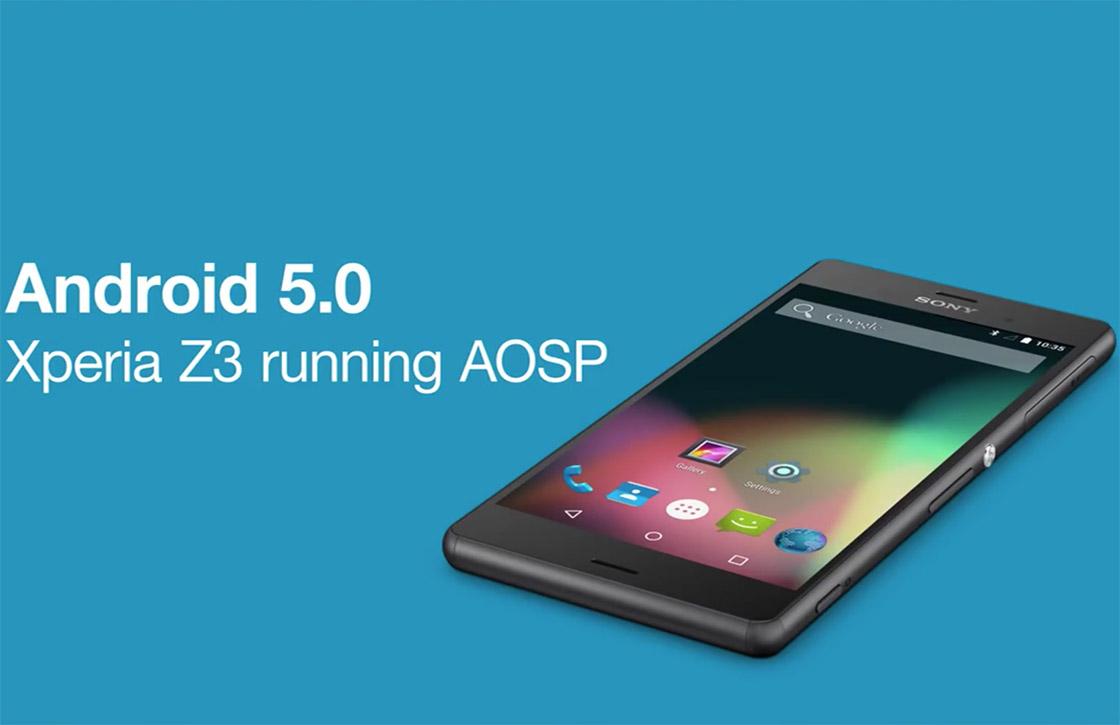 Video: zo ziet stock Android 5.0 eruit op de Sony Xperia Z3