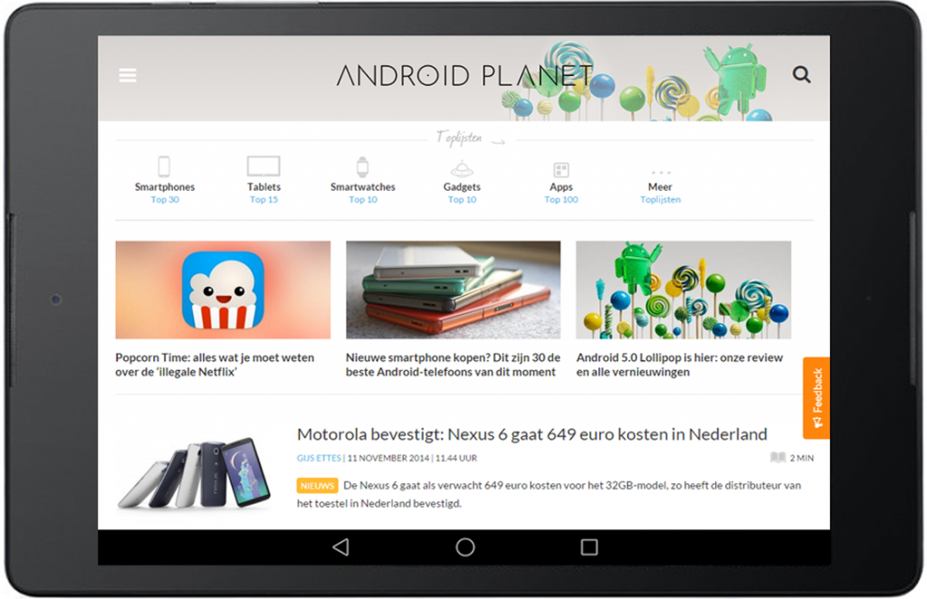 android planet vernieuwd