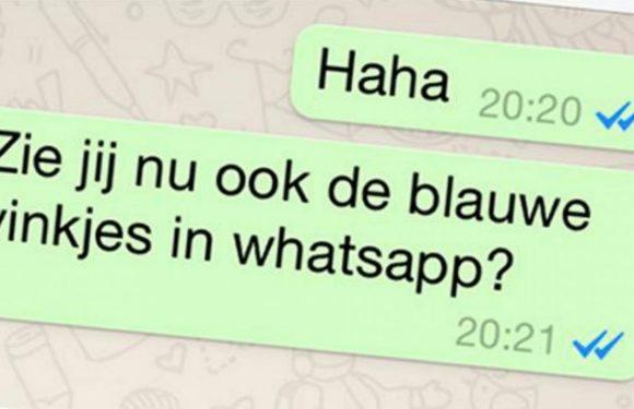 De blauwe vinkjes in WhatsApp uitschakelen