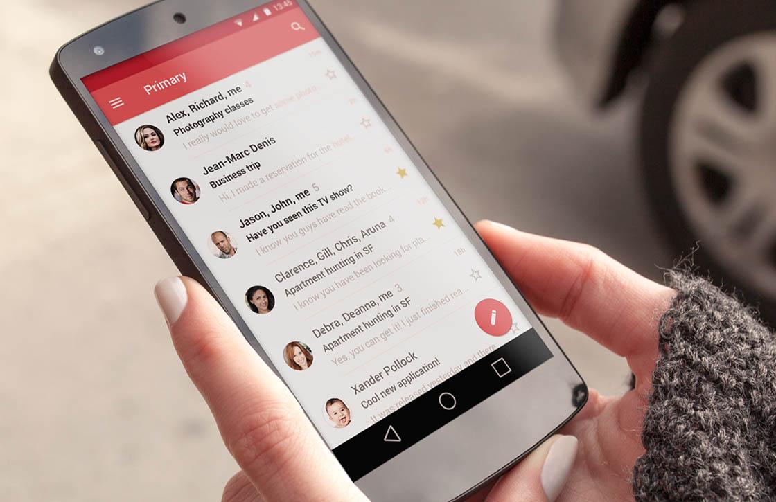 Gmail 5.0 met Material Design en Exchange-ondersteuning nu te downloaden