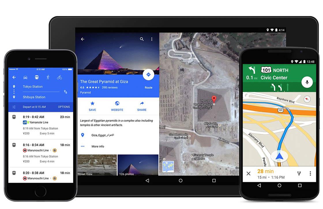 Download: Google Maps met Material Design beschikbaar