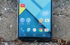 Nexus 6 vingerafdrukscanner