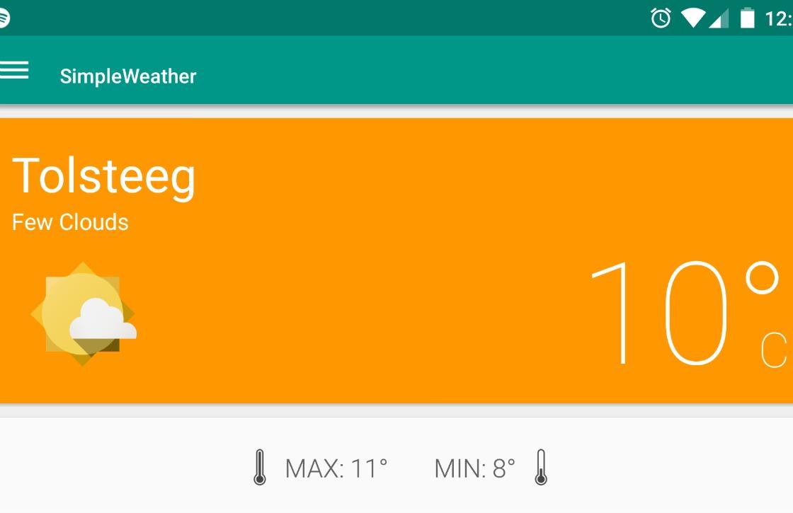 Simple Weather: mooie weer-app met Material Design