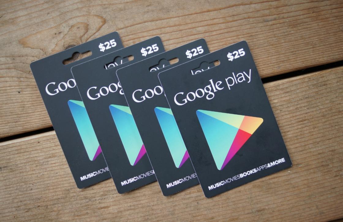 Google Play-cadeaubonnen nu beschikbaar in België