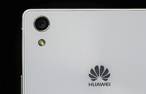 'Close-up toont metalen achterkant Huawei Ascend P8'