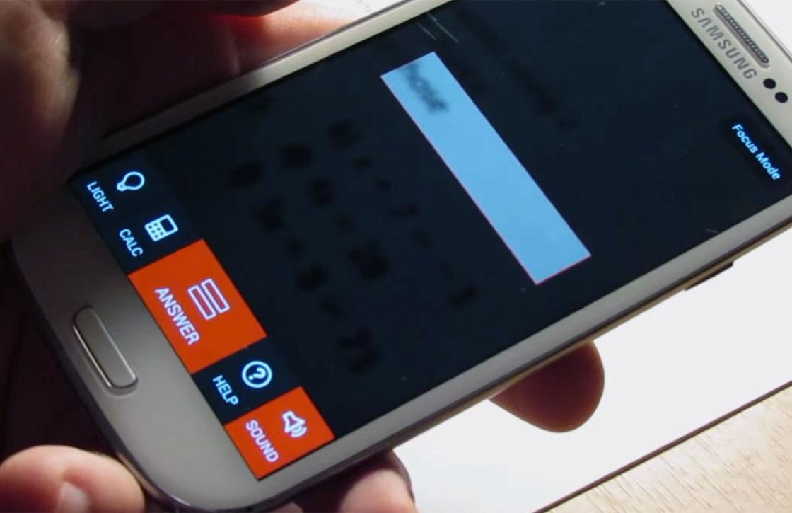 Deze Android-app laat je rekensommen inscannen en oplossen