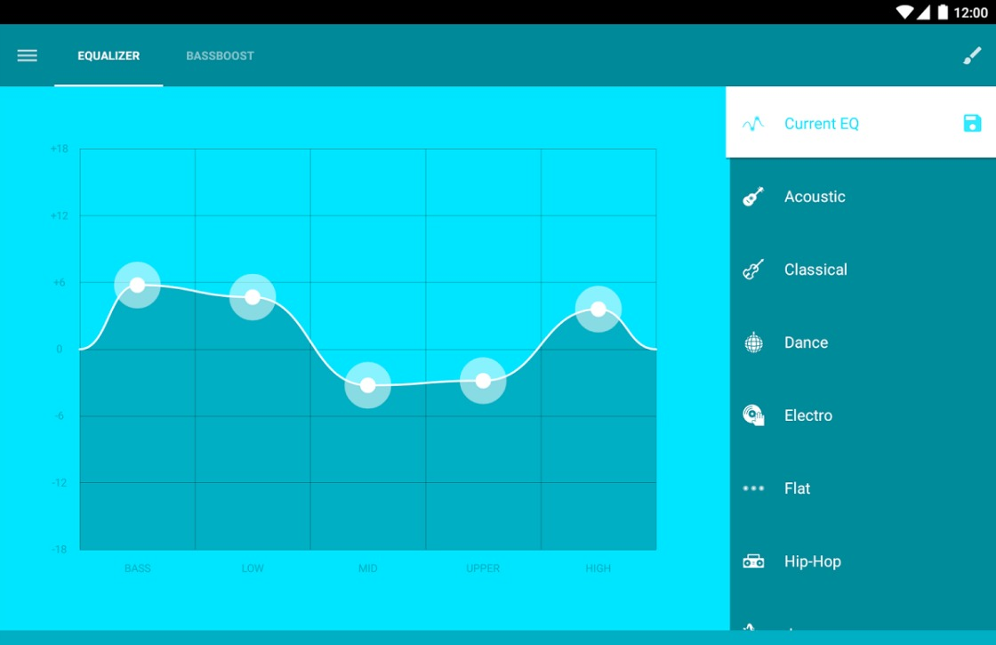 EQ: fraaie equalizer voor Android in Material Design