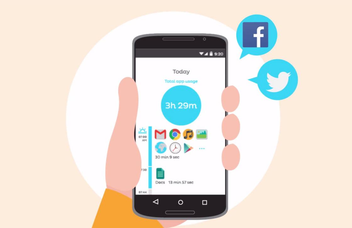 Deze app houdt bij hoe verslaafd je aan je smartphone bent