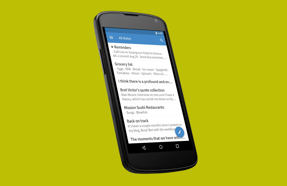 Fijne notitie-app Simplenote voorzien van Material Design