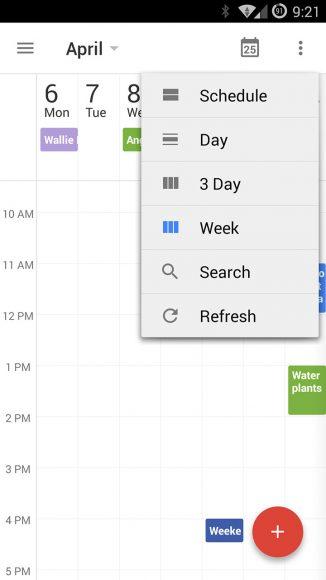 Google Agenda update