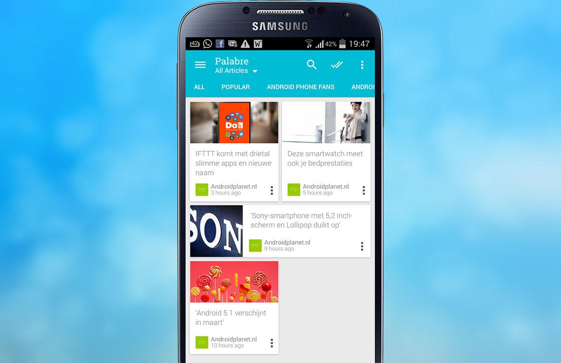 Palabre: nieuwe rss-app met Material Design voor Android