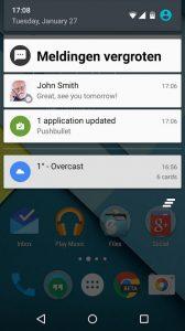 big notifications