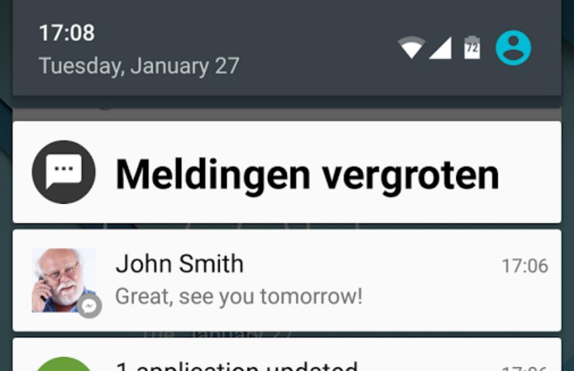 Deze app maakt notificaties groter en beter leesbaar