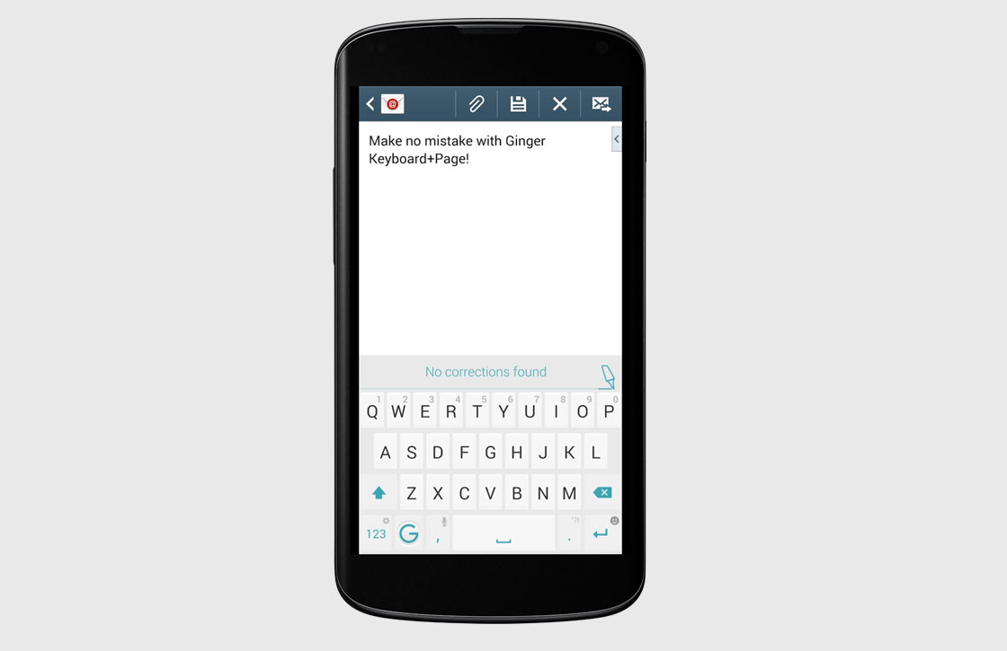 Ginger Keyboard: wisselen tussen apps zonder toetsenbord te verlaten