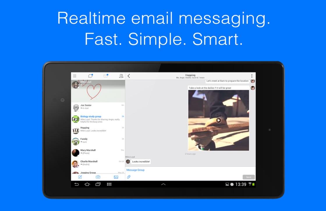 Deze app maakt e-mailen net zo simpel en snel als chatten