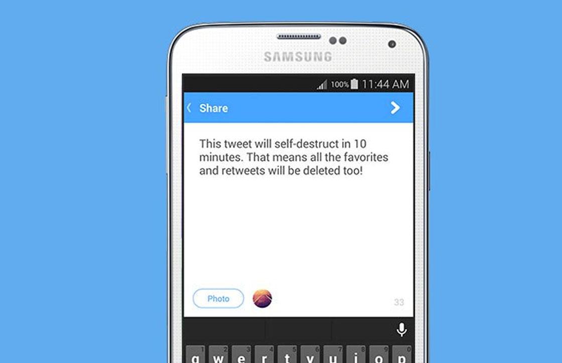 Met deze app verstuur je tweets die zichzelf vernietigen