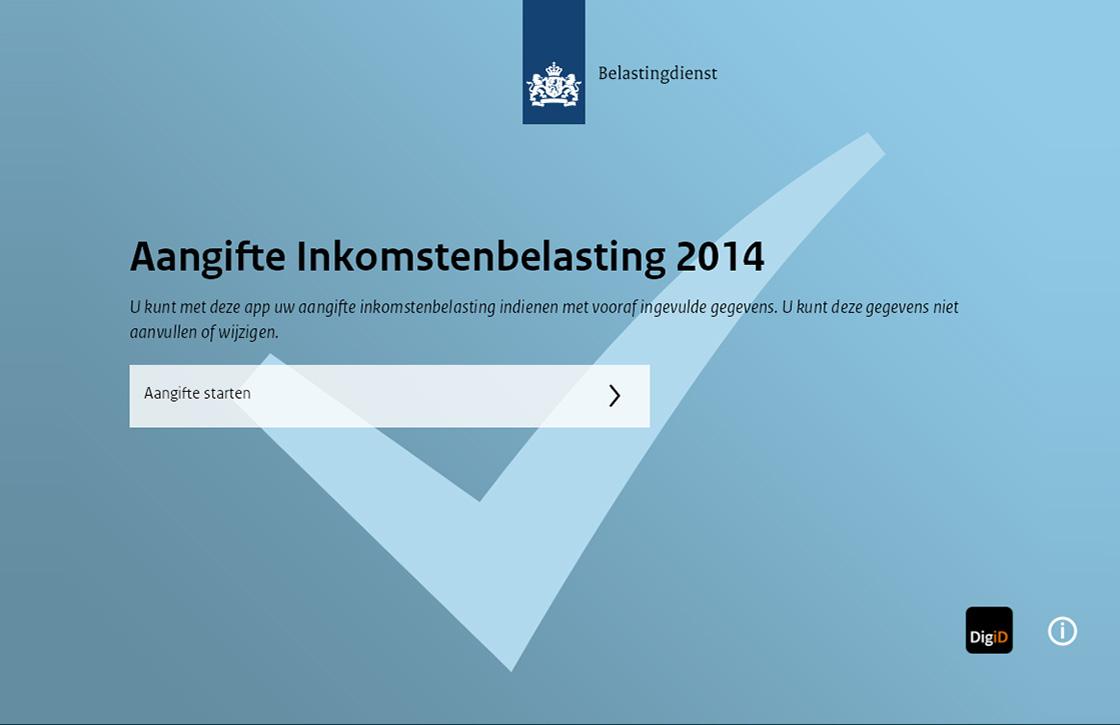 Aangifte 2014: nieuwe app om je belastingaangifte te doen