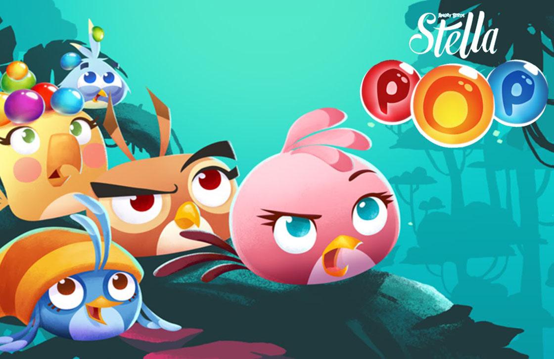 Schiet bubbels met boze vogels in Angry Birds Stella POP!