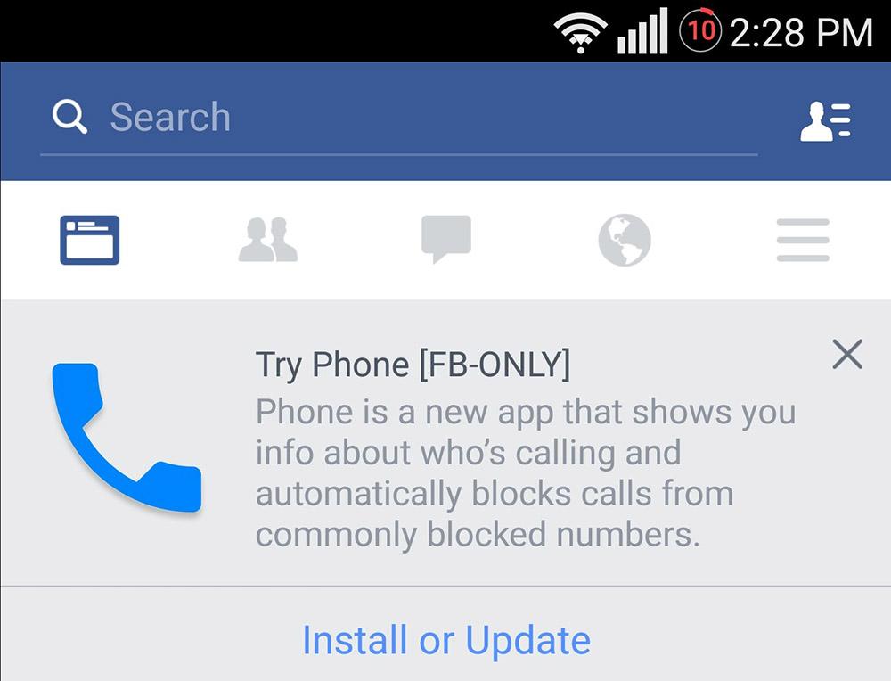 Facebook bel-app