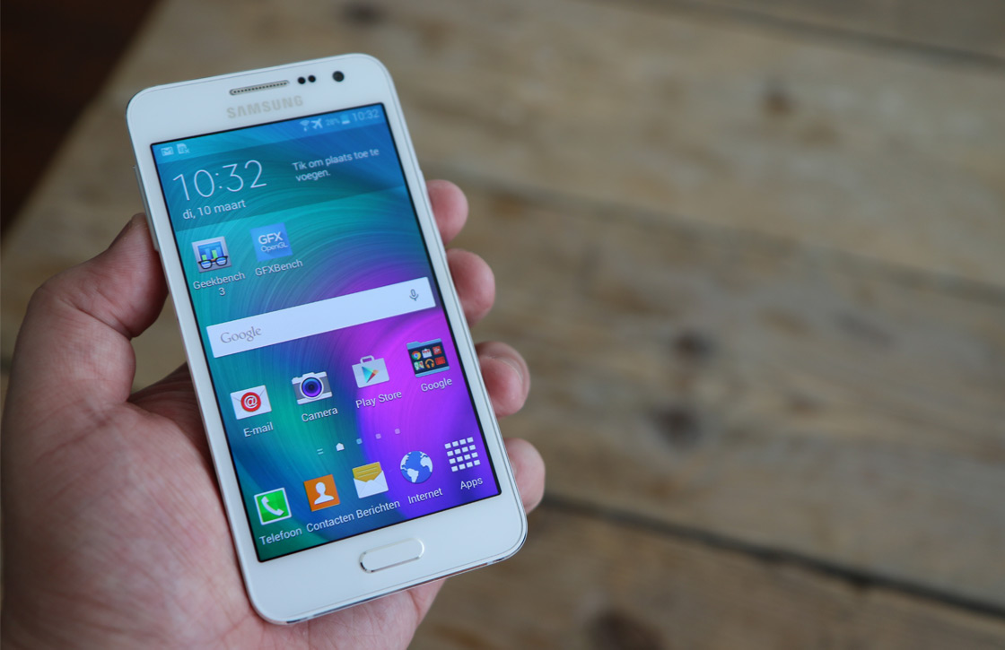 Samsung Galaxy A3 Review: design boven hardware