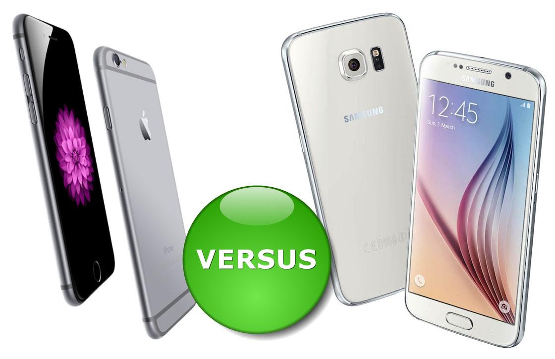 Samsung Galaxy S6 vs iPhone 6: toptoestellen vergeleken