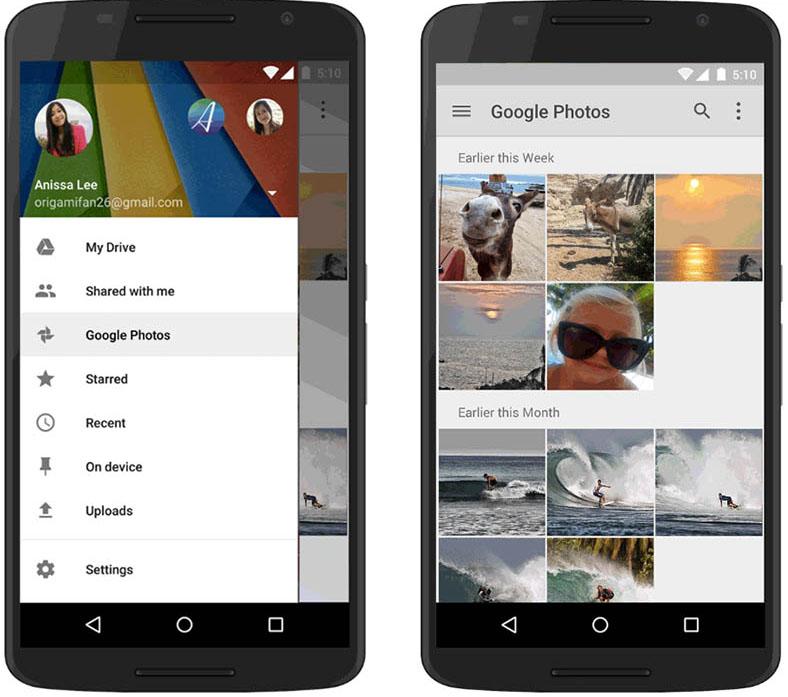 Google+ foto's Google Drive