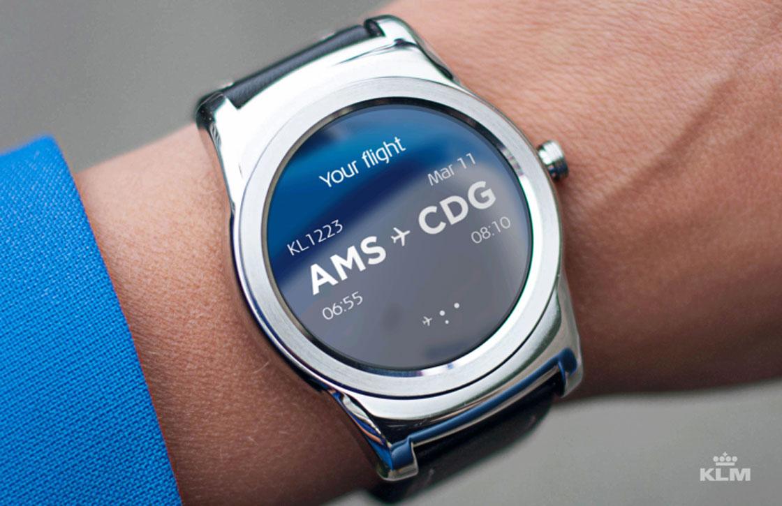 KLM-app laat nu je vluchtinformatie op je smarwatch checken