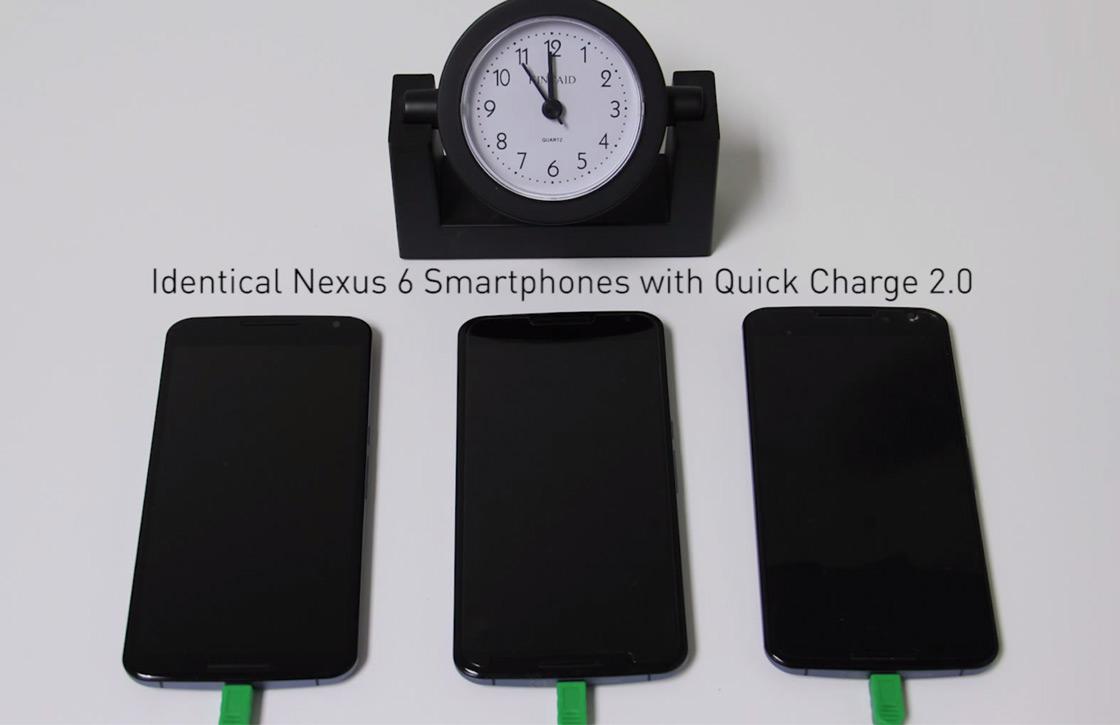 Zo snel laadt Qualcomms Quick Charge 2.0 je smartphone op