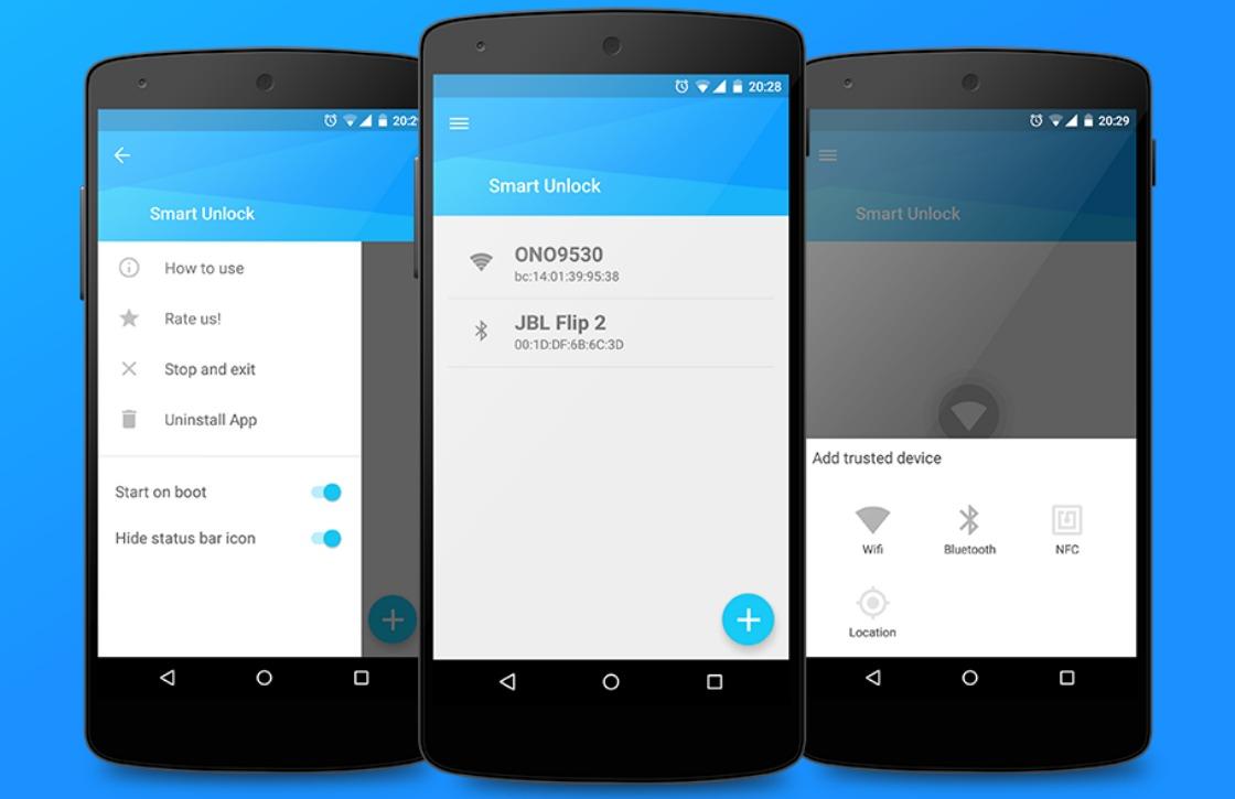 Deze app ontgrendelt je smartphone automatisch via wifi of bluetooth