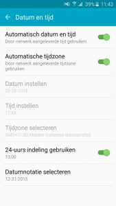 zomertijd op je android